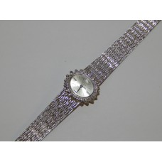 Pre-Owned 18ct White Gold & Diamond Set Vintage Arten Watch