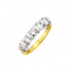 18ct Yellow Gold 5 Stone Diamond Ring