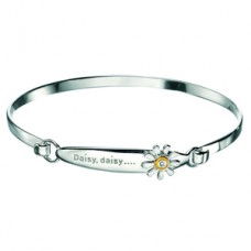 D for Diamond Children's Silver Daisy Bangle