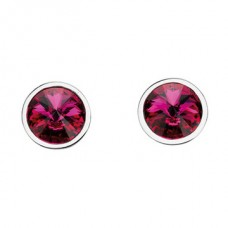 Elements Silver Swarovski Crystal Stud Earrings