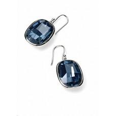 Elements Silver Denim Blue Swarovski Crystal Hook Earrings