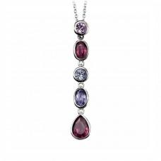 Elements Setrling Silver Swarovski Drop Necklace