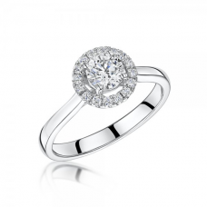 Platinum Halo Diamond Ring