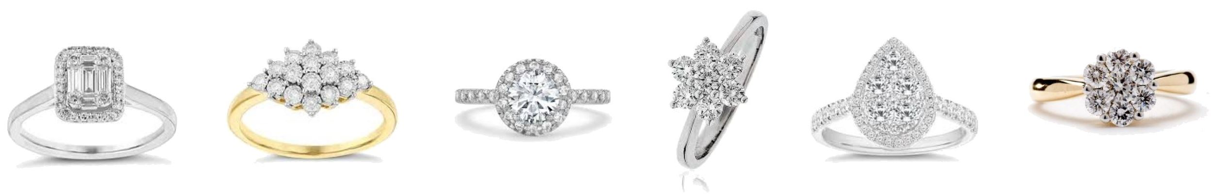 Diamond Cluster Rings in Carlisle from Nicholson and Coulthard, Jewellers